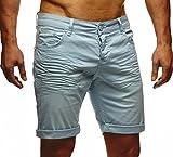 LEIF NELSON Herren Jeans Shorts LN1398; W32; Mint