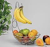 """Fruchtkorb """"Globul"""" mit Bananenhaken Obstkorb"""