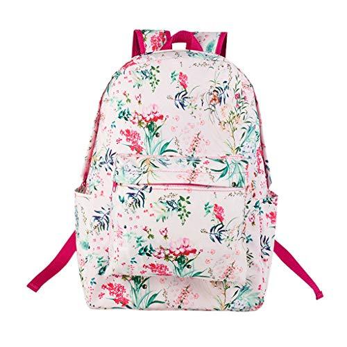 Mode Persönlichkeit Blumenmädchenrucksack, Studentenumhängetasche, beiläufiger Collegewindrucksackreisetasche im Freien, Mädchen PU-Freizeitrucksack, müssen häufig leicht geladen Werden Nosterap