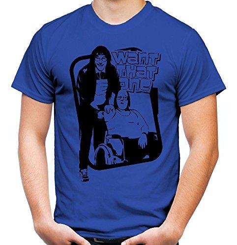 Britain Little Kostüm - Little Britain Männer und Herren T-Shirt | Spruch USA Geschenk (XL, Blau)
