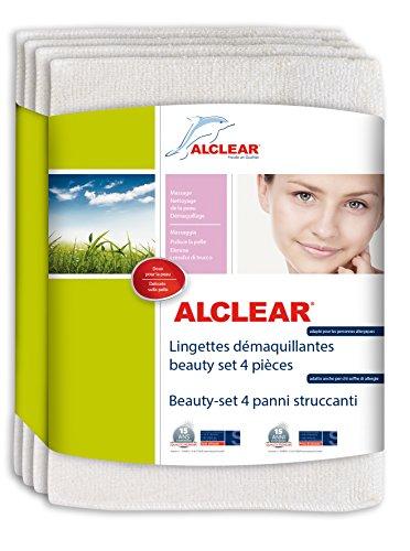 ALCLEAR-200803-Beauty-Set-di-4-Panni-Struccanti-Dimensioni-18-x-14-cm-Bianco