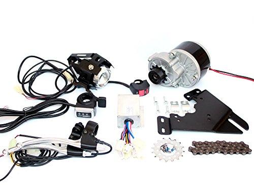 250 Watt Pinsel Motor Elektrische Fahrrad Umbausatz Mountainbike Scheibenbremse 16 T Kettenrad Elektrische Fahrrad Side Mount Kettenantrieb Kit (thumb throttle kit)