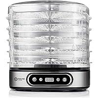 Balter Seco LCD Dörrgerät 500 W mit Temperaturregler von 35-70°C 5 höhenverstellbare Etagen Dörrautomat Dörrgerät Obsttrockner Dörrapparat Temperatureinstellung BPA Frei