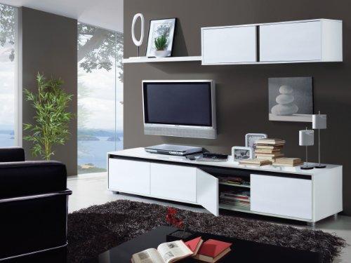 Mueble de comedor moderno, color Blanco y Ceniza
