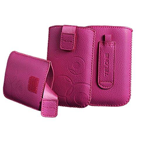 handy-point XXL Grosse Tasche Hülle, Handytasche, Handyhülle, Schutzhülle, Schutz, Etui Smartphone / Handy mit Gürtelschlaufe passend für Samsung Galaxy Note 1, Note 2, Note 3, HTC One M8, LG G3, G Pro Lite, Sony Xperia Z1, Z2, Z3, Z5, E4, T3 Style, Pink