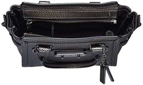 Coach Women's Pebble 21 Top-Handle Bag Silver (Dk Gm/Gunmetal)