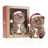 ChocoBärchen 'Barney' - Schokoladenbär zu Weihnachten, Schokoladenfigur Weihnachten, Weihnachtsgeschenk Schokolade