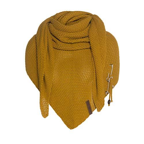 Knit Factory Coco Umhängetuch 190x85 Ocker