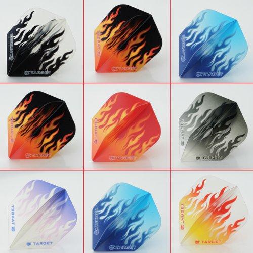 5 x gemischt Sets of Target Vision Flames Dart Flights Standard Form