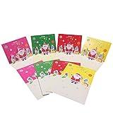 Aomon Weihnachtskarten mit Umschlägen Grusskarten Weihnachten (4 Farben)