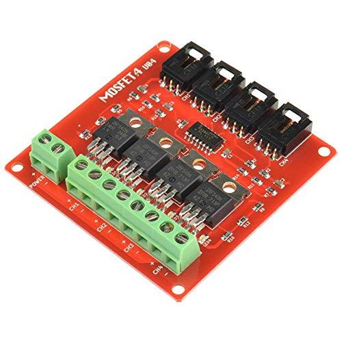 ARCELI 4 Kanäle 4 Route MOSFET Taste IRF540 V2.0 + MOSFET Switch-Modul für Arduino -