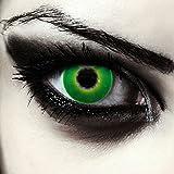 Verde lenti a contatto colorate verdi per halloween costume, morbide, non corrette modello: 'Hulk Green'