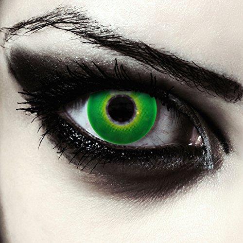 """Lentillas de colores verde para Halloween costume lentes de tres meses sin dioprtías / corregir + gratis caso de lente """"Hulk Green"""""""