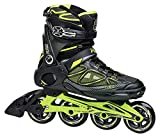Fila Herren Primo Air Flow Inline Skate, Schwarz/Lime, UK 6,5