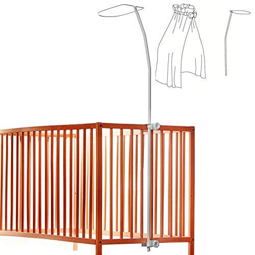 Supporto per baldacchino universale per culla e lettino, pratico supporto per installare una zanzariera, si adatta a tutte le culle standard