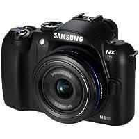Samsung NX5 Systemkamera (14 Megapixel, 7,6 cm (3 Zoll) Display, HD Video, Bildstabilisierung) inkl. 18-55 mm Objektiv OIS schwarz