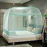 LUSTAR Moskitonetz Doppelbett Canopy Polyester Für Zu Hause Fliegen Insektenschutz 1 .2 M bis 2 M Bett Innendekoration,XGreen-2 * 2.2m