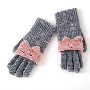 Unbekannt XIAOYAN Handschuhe Handschuhe Damen Strickwaren Handgelenk Länge Süß/Party/Lässig Winter Grau/Beige/Pink/Red Handschuhe Bequem