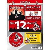 1. FC Köln Aufkleberset 5 einzelne Aufkleber auf Bogen