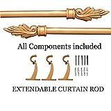 #3: Deco Window Flame Extendable Curtain Rod Gold Matt Brown Wash 52
