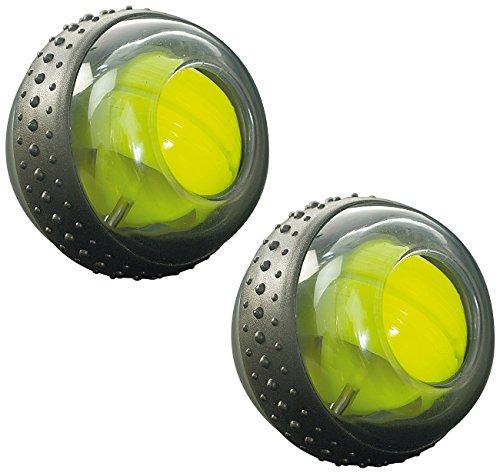 RotaDyn Gyroball: Rotations-Ball für Hand- und Armtraining, mit 10.000 Umdr./M, 2er-Set (Fitness Ball) -