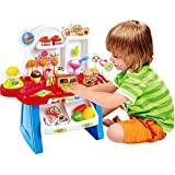 Jiada Supermarket Shop, 34 Pcs With Sound Effects | Mini Market Pretend Play Toy Multicolour