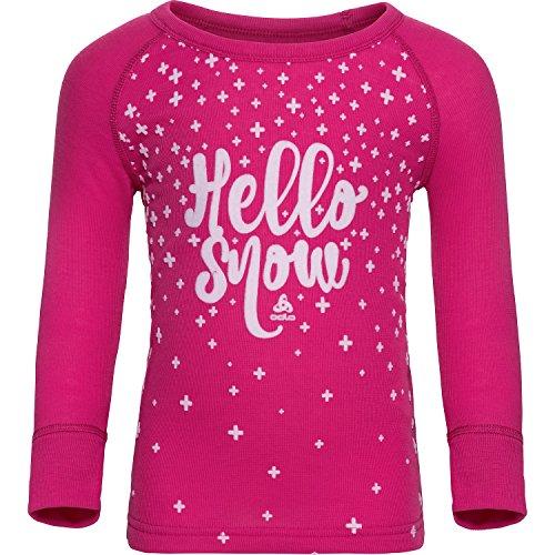 Odlo Warm Trend Crew Neck Shirt Junior – Beetroot Purple | 07613361004902