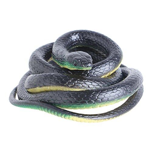 Realistische Kunststoff Heikles Spielzeug Gefälschte Schlangen Simuliert Tiergarten Requisiten Witz Streich Halloween ()
