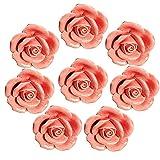 FBSHOP(TM) 8 Stück Rosa Vintage Floral Rose Form Keramik Porzellan Türknauf Möbelknauf Porzellanknöpfe für Küche / Schrank / Bad / Schubladen /Truhen /Schlafzimmer / Badezimmer /Kindermöbel Dekorative / Schubladengriffe