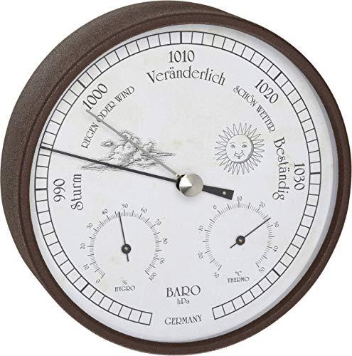 TFA Dostmann Analoge Wetterstation, für innen und außen, Barometer, Hygrometer, Thermometer, wetterfest