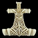 relieve de pared - Thors Hammer Mjolnir BLANCO - FIGURA VIKINGO