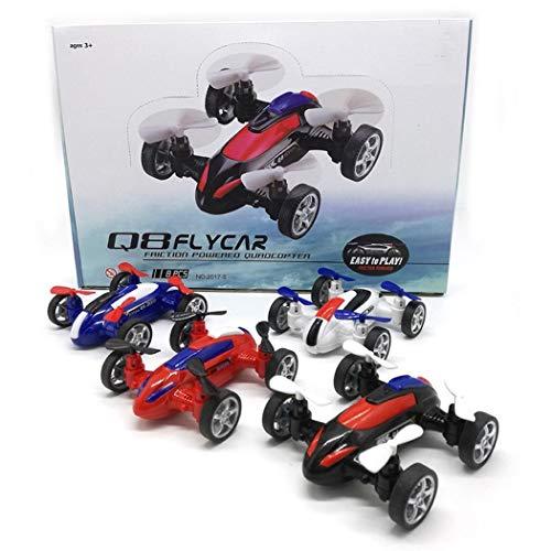 Wekold Quadcopter Drohne Fliegen Auto, Durable Kinder Fernbedienung Trägheit Spielzeug Auto Modus Push & Pull Spielzeug