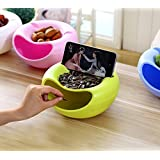 [Sponsored]TiedRibbons Dry Fruits Container Snacks Pulses Storage Box Plate Dish Tray Organizer With Mobile Holder(green)