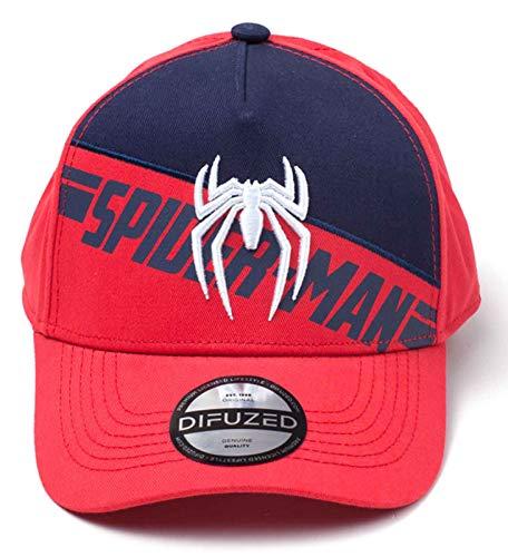 Preisvergleich Produktbild Spiderman Baseball Cap PS4 3D Embroidery Print Nue offiziell Rot Snapback