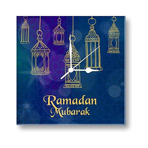 YaYa cafe Eid gifts, Ramadan Eid Mubarak Canvas Wall Clock - 6x6...