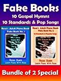 Piano Song Books - Fake Book 1 & 2 - Music Sheet, Song Charts, Reharmonization Chord Charts - 10 Gospel Hymns & 10 Standards and Popular Songs - Bundle of 2 Books: Learn Piano Songs