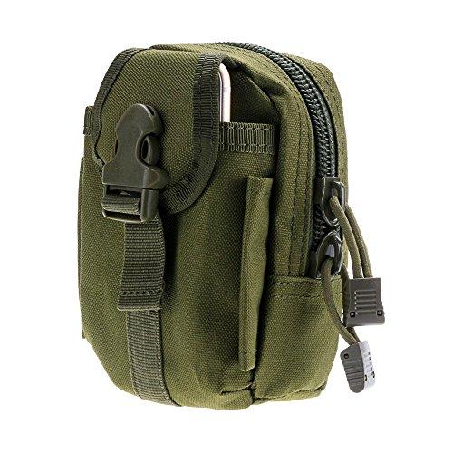Gaodear Tactical sacchetto Outdoor multi-purpose Utility gadget strumento marsupio Phone multifunzione borsa medica kit primo soccorso sopravvivenza bag per trekking, campeggio, ciclismo, Green Green