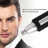 HLYOON® Nasenhaarschneider Ohrenhaartrimmer(ohne Batterie), Schwarz