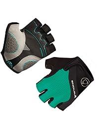 ENDURA Woman Short Gloves Hyperon, color verde,negro, talla M