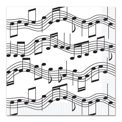 Musical Note Luncheon Napkins - Note Musicali Centrotavola