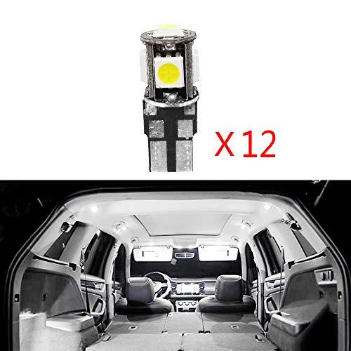 Cobear 12 V Weiß Super Helle LED Auto Innenbeleuchtung Lampe Lampen Kit für 508 Ersetzen für Halogen Oder Versteckte Lampen 12 stücke
