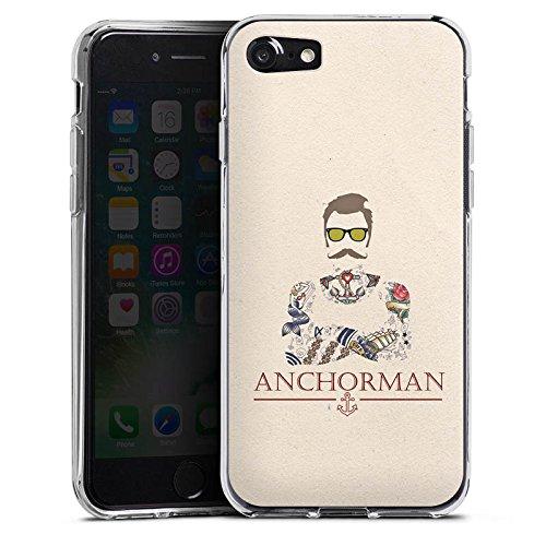 Apple iPhone 6 Plus Silikon Hülle Case Schutzhülle Schnurrbart Anchorman Tattoo Anker Silikon Case transparent