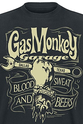 Gas Monkey Garage Garage Wrench Label T-Shirt schwarz Schwarz