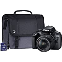Canon EOS 4000D SLR Camera Kit with EF-S 18-55 mm III Lens/16 GB SD Card and Case - Black