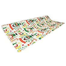 Clairefontaine Christmas Alliance Long Roll Wrapping Paper, 50 m x 0.70 m - Bright Christmas