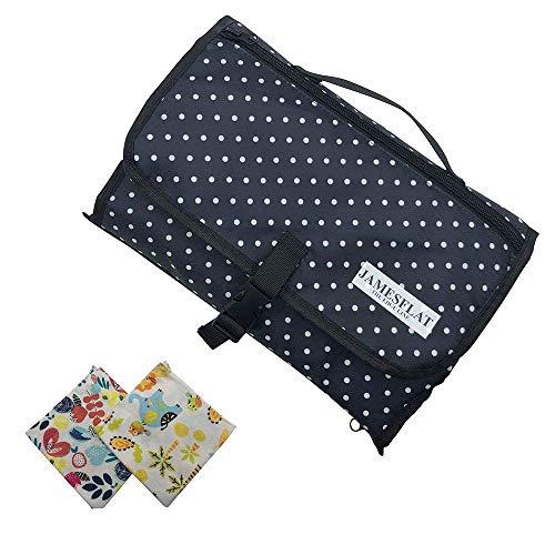 Fasciatoio portatile pieghevole + 2 bavaglini kit da viaggio  Cambio pannolino neonato[3a...