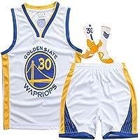 HDJX Golden State Warriors, 30, Baloncesto Camisa sin Mangas, clásico Retro de la Camiseta Superior, de Malla Transpirable de Deporte White-L