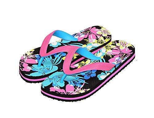 lip-Flops Rutschfeste Flache Bedruckte Sandalen,Pink,39 (Dressy Flip-flops)