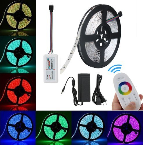 Topled Light® SMD5050 Luminoso RGB che cambia Kit luce flessibile LED Strip(Remote Controller 2.4G RGB (Rope 1 Luce)