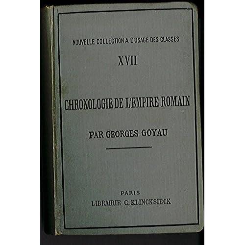 Chronologie de l'empire romain.